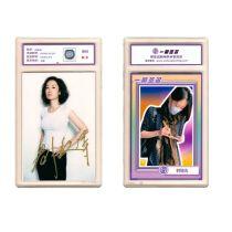刘敏涛 亲笔签名照片 签字卡 评级卡具卡砖 一瞬签名