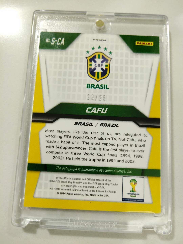 帕尼尼2014世界杯元年 卡福 折签 限量25 巴西队 AC米兰 罗马功勋 世界第一右后卫 金球最佳11人 稀少罕见 贝利罗纳尔多卡洛斯小罗队友