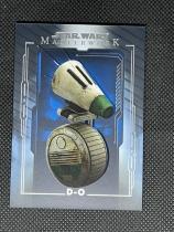 2020 topps STAR WARS星球大战MASTERWORK高端系列 蓝背景平行 #33 机器人D-O 专收收藏投资 JAN546