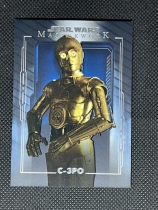 2020 topps STAR WARS星球大战MASTERWORK高端系列 蓝背景平行 #52 超人气C-3PO 专收收藏投资 JAN548