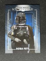 2020 topps STAR WARS星球大战MASTERWORK高端系列 蓝背景平行 #54 BOBA FETT 专收收藏投资 JAN549