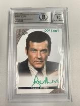 电影007 男主角 罗杰·摩尔 超低编 签字卡 001/007 首编+007总编 =1/1 意义非凡!Beckett认证评分10分!大英影帝 永恒经典的007!