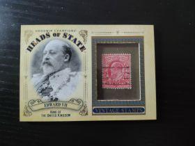 古德温 邮票实物卡 爱德华七世 英国皇帝 【科比 梅西】