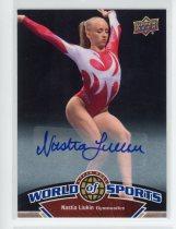 奥运明星卡 娜斯佳 柳金 签字签名卡 Upper Deck 2010 NO.201