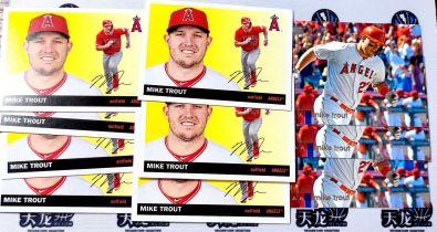 【天龙球星卡】HUI 2020 bowman MLB 洛杉矶天使 迈克特劳特 7张印签 特卡 共10张 值得收藏