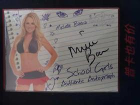 2007 Bench Warmer School Girls 美女签名卡 Michell Beana