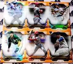 【天龙球星卡】 UNI 2020 MLB TOPPS BUNT系列 199编橙折折射厚卡base打包 TORRES BENCH 共6张