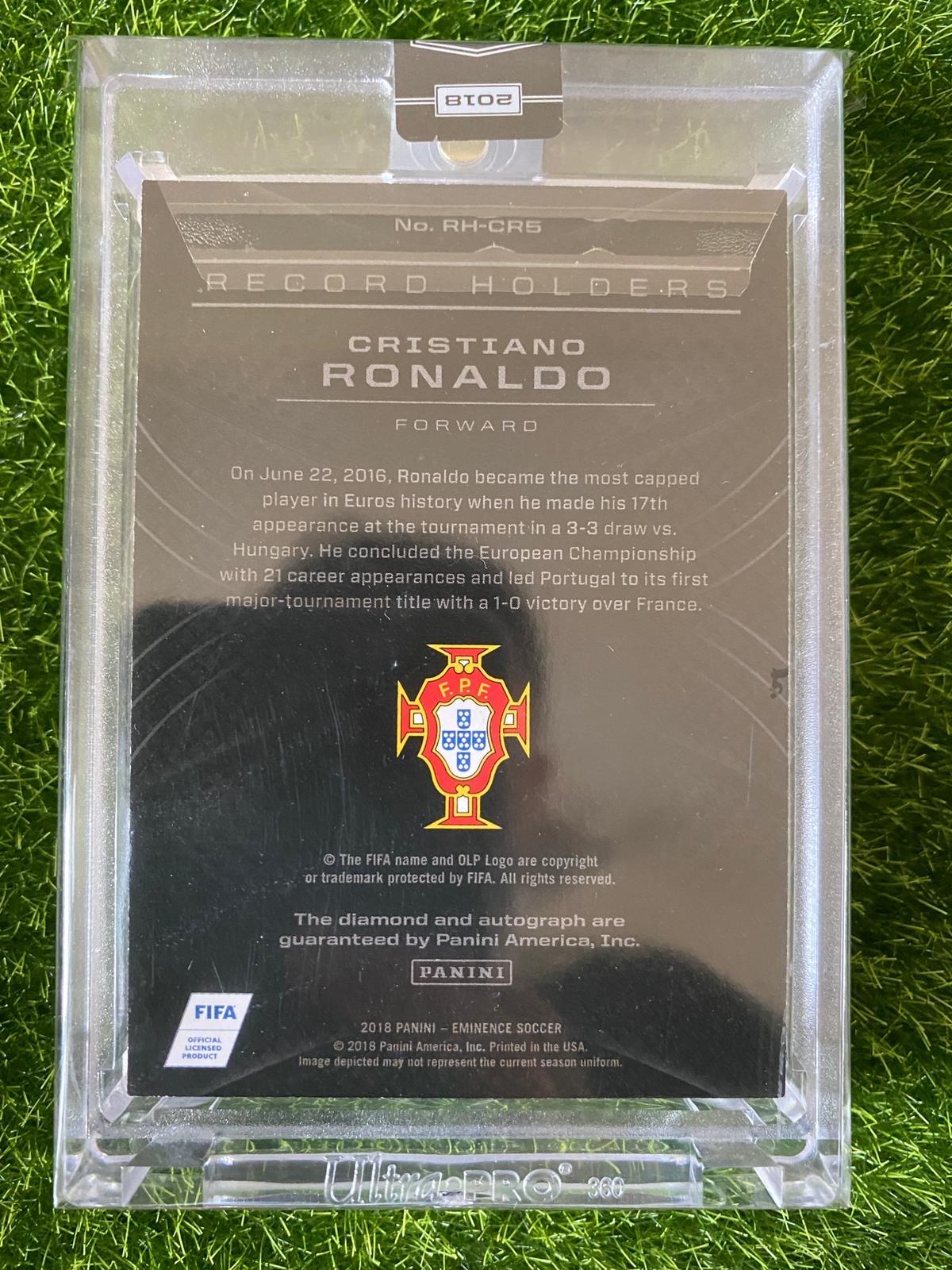 【天龙球星卡】2018 大真金 葡萄牙 C罗纳尔多 Record Holders 钻石纪录签字 Cristiano Ronaldo 稀有卡签 同背 07/10