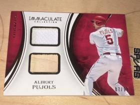 Albert Pujols MLB Immaculate 比赛球衣➕球棒,棒球双料实物卡。