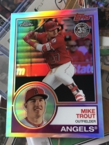 MLB 棒球 Mike Trout 折射