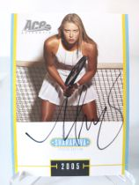 2005 ACE系列 玛利亚 莎拉波娃 sharapova 最美网球女星 卡签签字 场签 超级美少女 非常罕见 ebay高价 选图优美 专收必备 第二张 包夹