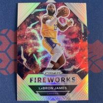 【海宝】2020-21 Prizm系列 湖人 詹姆斯 fireworks 烟花特卡 银折 【HAX】