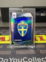 panini 欧洲杯 prizm 瑞典 队徽 黑折 1/1 伊布 祖国 绝对值得收藏 收藏佳品 !