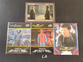 【LA拍卖】权利的游戏 漫威 蜘蛛侠英雄归来 美国队长 龙妈 雪诺 汤姆赫兰德 特卡 4张打包 XWL