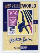 奥运明星卡 娜斯佳 柳金 签名签字卡 体操运动员Upper Deck 2011