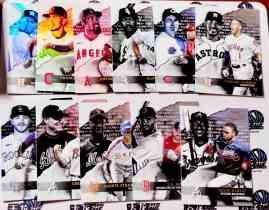 【天龙球星卡】 UNI 2020 MLB TOPPS GOLD LABEL CLASS 3 大比例折射打包 CORREA ALBIES 共11张