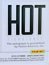 2019-20 Panini Hoops Hobby Hot Signatures 新秀签字卡 锡安 莫兰特 巴雷特 八村塁