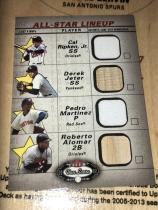 MLB 4 All-Star,  Ripken jr & Jeter & Martinez& alomar 球衣➕球棒卡,棒球4巨星。