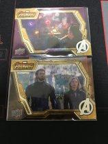 复仇者联盟 系列 美国队长 黑寡妇 绿巨人 奇异博士 2张金边特卡打包 卡质量非常好 别错过