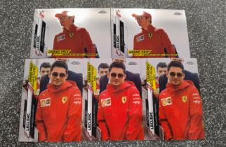 【吴江Allen拍卖】2020 topps chrome F1 base 夺冠场景特卡 法拉利车队 勒克莱尔