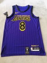 Kobe 科比 湖人城市限定 紫薯au球衣 全新带吊刺绣球衣  M码  支持任何鉴