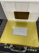 【乐卡收藏官方代卖】不累计 k203 14-15 手提箱 空箱子 金色 精美 品相如图不完美 单个1支