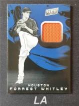 【LA拍卖】2019 Panini The National 怀特利 休斯顿太空人队 Forrest Whitley 球衣实物 7012