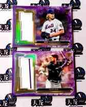 【天龙球星卡】 UNI 2020 MLB TOPPS BUNT系列 DAHL SYNDERGARRD 27编紫折折射签字 两张打包