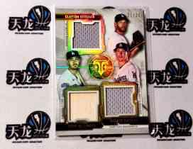 【天龙球星卡】 UNI 2020 MLB TOPPS BUNT系列 洛杉矶道奇 KERSHAW BELLINGER 三人35编折射球衣 值得收藏