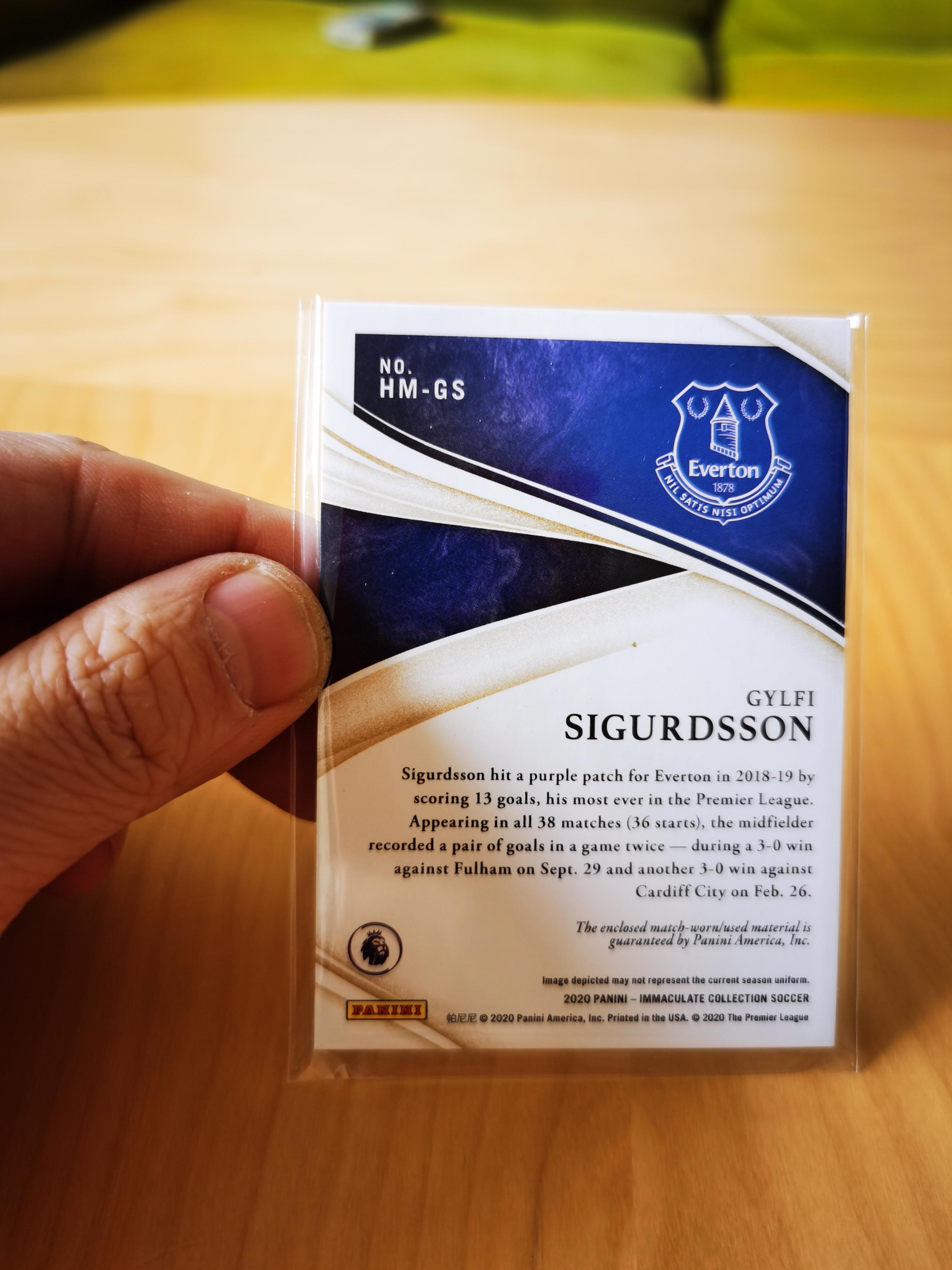 W01 2020 IMMACULATE SOCCER 炙热的足球高端系列 吉尔维·西古 埃佛顿足球俱乐部 前腰 竖版切割球衣 30/50