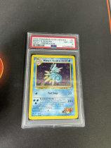 不累计「老夫子」拍卖 444 pokemon 宝可梦 ptcg 英文版 小霞的墨海马 闪卡 PSA8