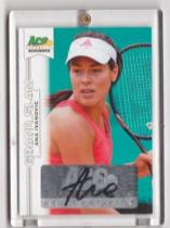 ACE ANA IVANOVIC 伊万诺维奇 网球美女签名卡 auto