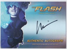 flash wentworth miller 米勒 越狱男主角 签名卡 卡签
