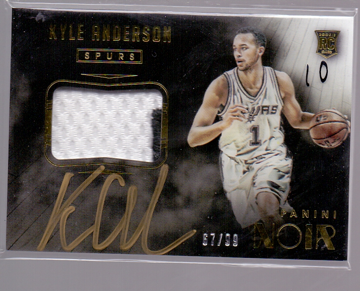 篮球卡NOIR系列出售 14-15NOIR系列10 凯利安德森新秀年99编镜面patch签字